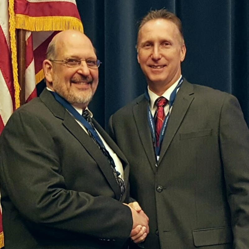NYSCA Immediate Past President Louis Lupinacci and Council President John LaMonica