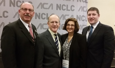 left to right, NY ACA Delegate Dr. Bill Wolfson, ACA President Dr. David Herd, NY ACA State Affiliate Rep Dr. Mariangela Penna, NY ACA Alternate Delegate Dr. Jason Brown