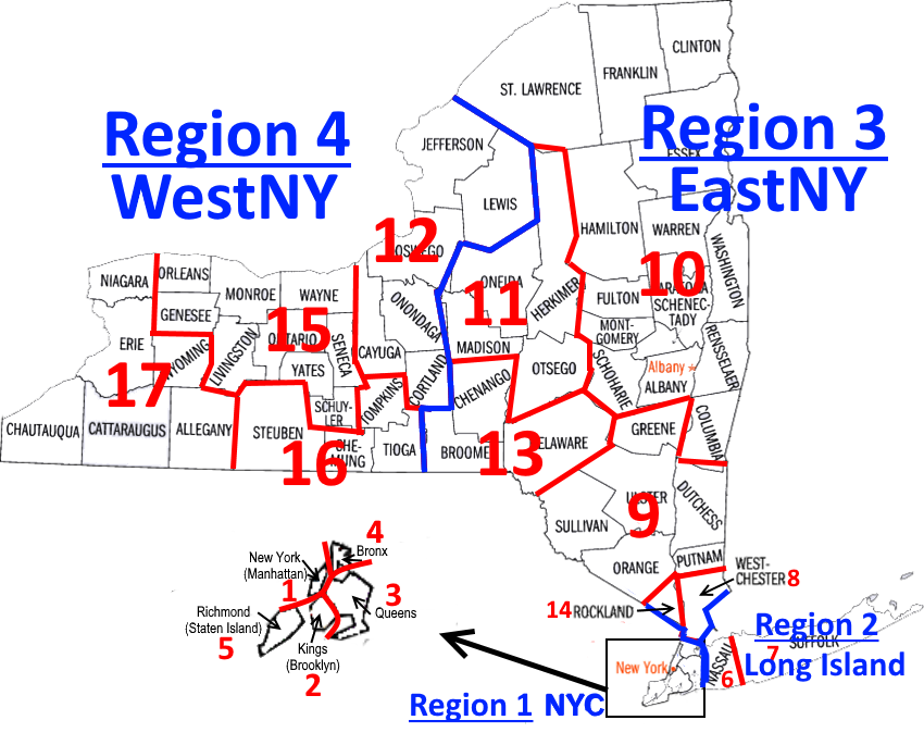 NYSCA Districts and Regions